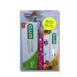 Gum Special Offer Activital Family Set 6τμχ Activital Οδοντόκρεμα 75ml x 2 & Activital Οδοντόβουρτσες x 2 & Junior Οδοντόπαστα 7+ ετών & Junior Οδοντόβουρτσα 7-9 ετών