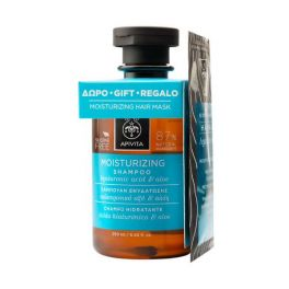 Apivita Set Με Moisturizing Σαμπουάν Ενυδάτωσης 250ml & Δώρο Express Beauty Μάσκα Μαλλιών Ενυδάτωσης με Υαλουρονικό Οξύ 20ml