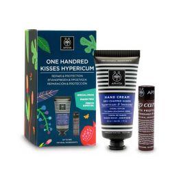 Apivita Set Με Κρέμα Για Ξηρά/Σκασμένα Χέρια Με Βάλσαμο & Μελισσοκέρι 50ml & Lip Care Πρόπολη 4.4g