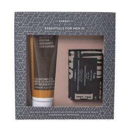 Korres Essentials For Men III Καθαρισμός & Περιποίηση Set Με Γαλάκτωμα Για Μετά Το Ξύρισμα 125ml & Σαπούνι Καθαρισμού Προσώπου/Σώματος Με Θαλάσσια Λάσπη 150g