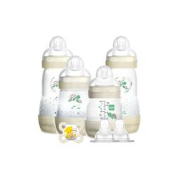 Mam Set Δώρου Για Το Νεογέννητο Με 4 Μπιμπερό Easy Start Anti-Colic (1x130ml) 0m+, (1x160ml) 0m+, (2x260ml) 2m+ & Mam Θηλή Σιλικόνης Για Μπιμπερό 2m+ 2τμχ & 1 Πιπίλα MAM Start 0-2m