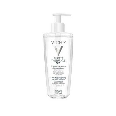 Vichy Purete Thermale 3 in 1 Step Lotion Cleansing Micellar Solution (Pump) 400ml