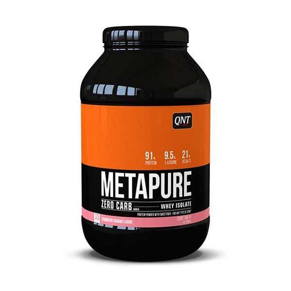 QNT Metapure Zero Carb Απομονωμένη Πρωτεΐνη Ορού Γάλακτος Με Γεύση Φράουλα/Μπανάνα 2kg