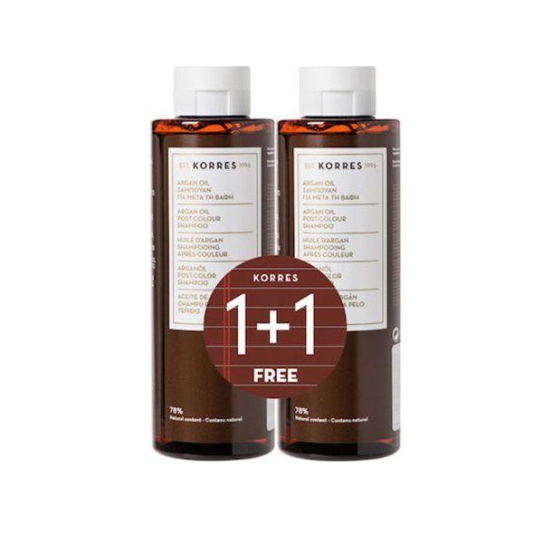 Korres Set Argan Oil Σαμπουάν Για Μετά Τη Βαφή 250ml 1+1