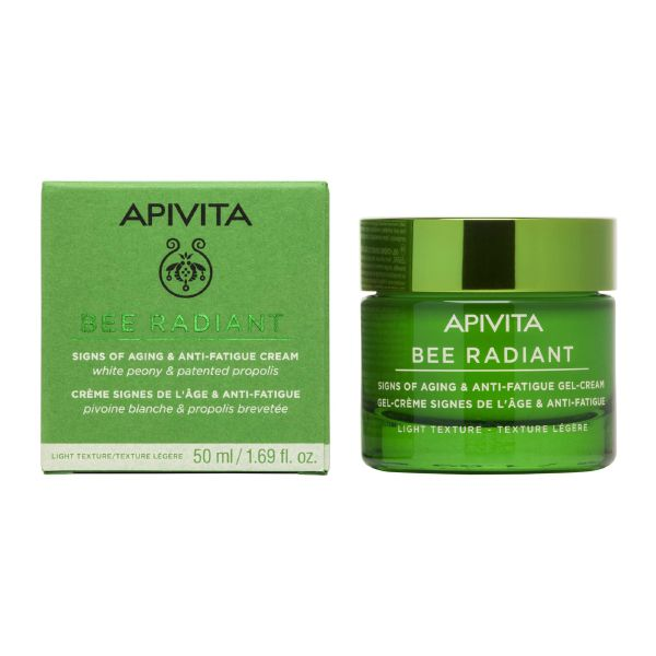 Apivita Bee Radiant Κρέμα -Τζελ Προσώπου Ελαφριάς Υφής Για Σημάδια Αντιγήρανσης & Ξεκούραστη Όψη Για Κανονικές/Μικτές Επιδερμίδες 50ml