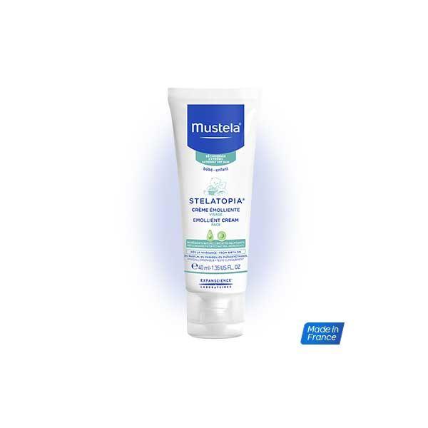 Mustela Stelatopia Emollient Cream Μαλακτική Κρέμα Προσώπου 40ml