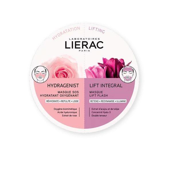 Lierac Duo Mask Hydragenist & Lift Integral Μάσκες Προσώπου Για Εντατική Ενυδάτωση & Αποτέλεσμα Lifting 2*6ml